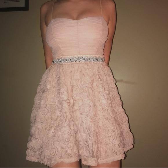 Dresses & Skirts - Pink Rose Cocktail Dress